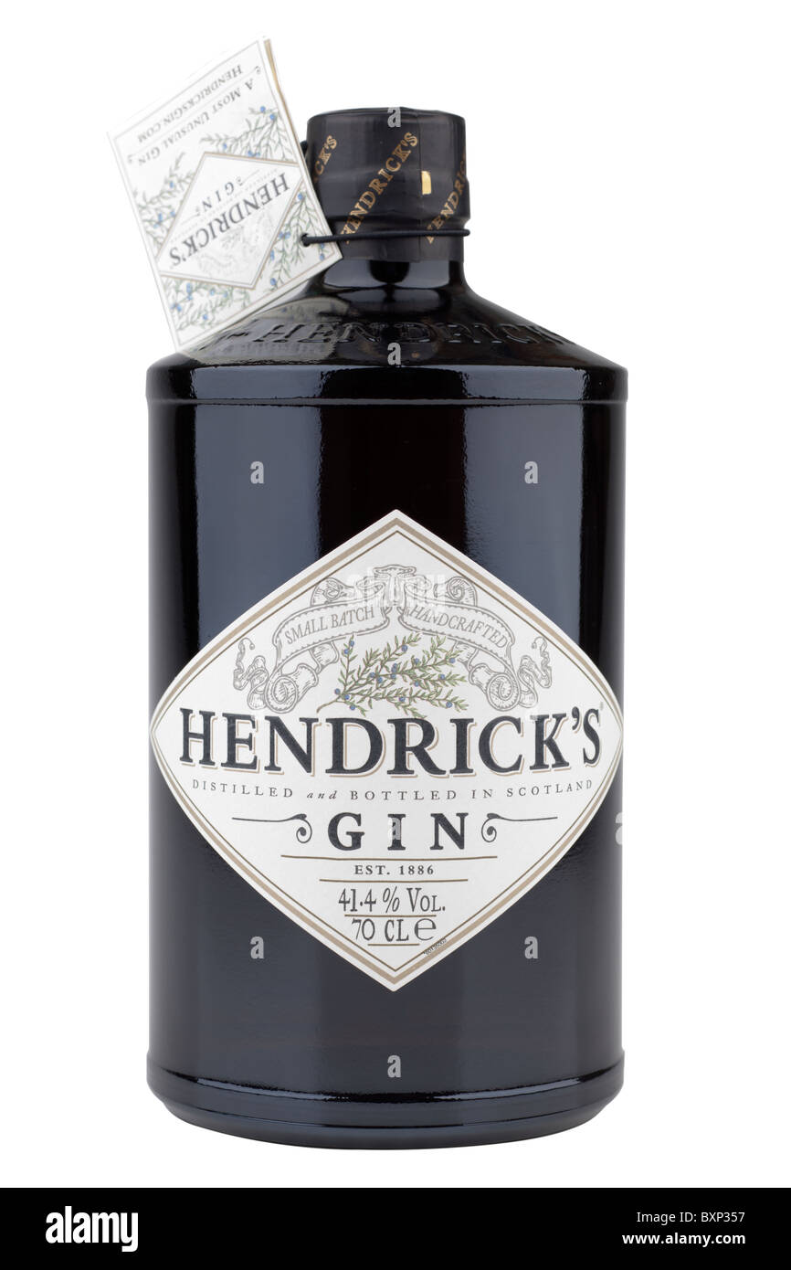 70 cl bottle of Hendricks distilled gin 41.4% alcohol - Stock Image