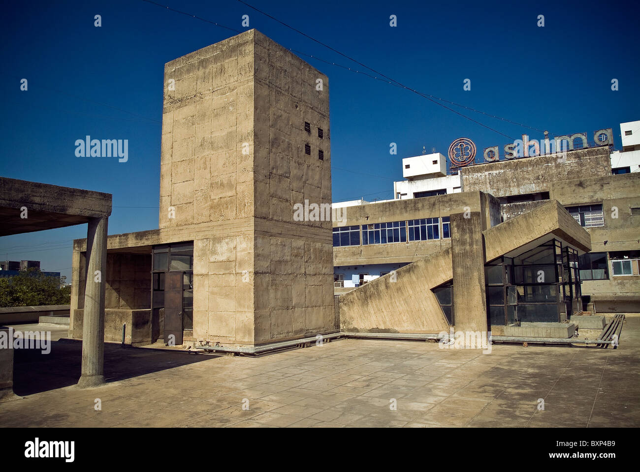 The Millowners Association Building designed by Architect Le Corbusier in Ahmedabad, Gujarat, India - Stock Image