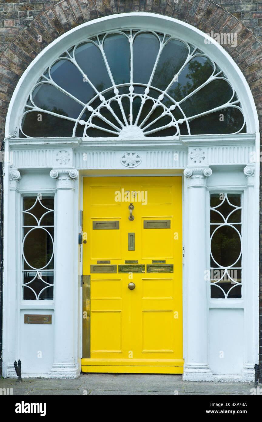 Yellow Door Dublin Ireland Stock Photos Yellow Door