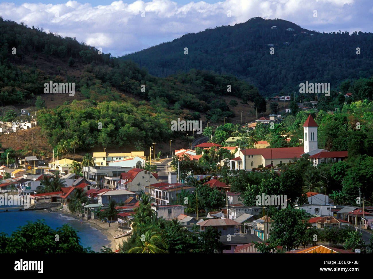 Town of deshaies on basse terre island guadeloupe france - Jardin botanique guadeloupe basse terre ...