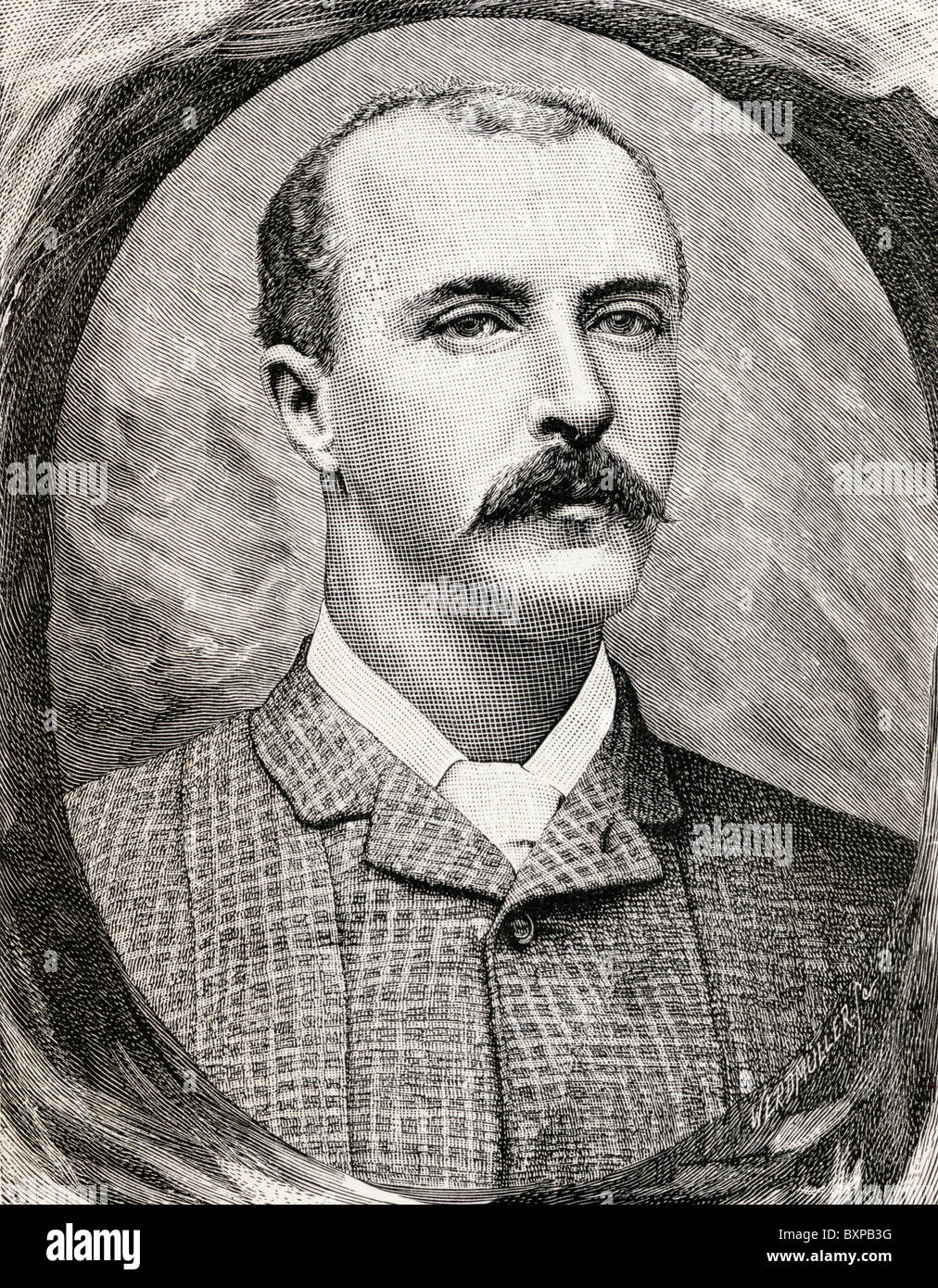 Captain Robert Henry Nelson, 1853 to 1892. British Army officer and African explorer, - Stock Image