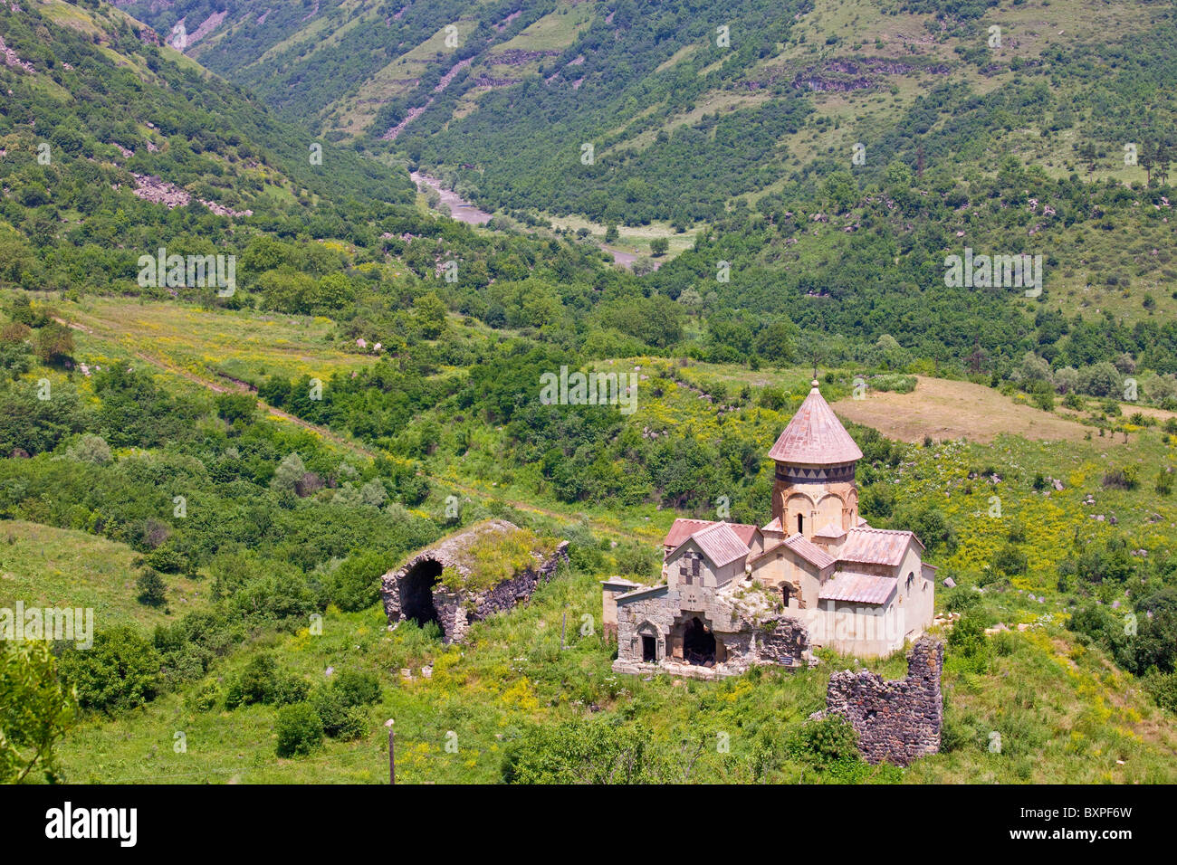 Hnevank Armenian Apostolic Church monastery near the Debed Canyon in Armenia - Stock Image