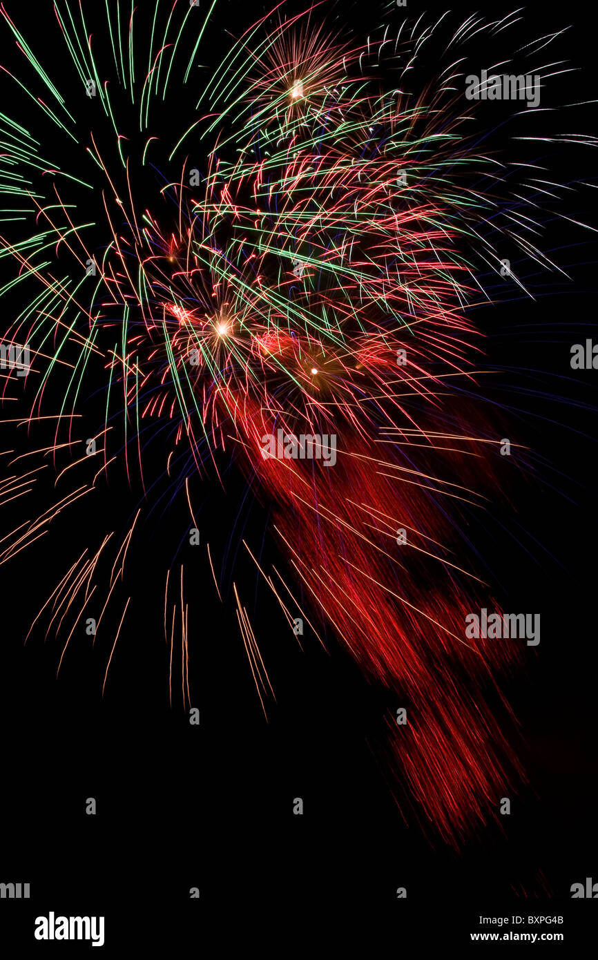 spectacular fireworks display on guy fawkes night light up the dark