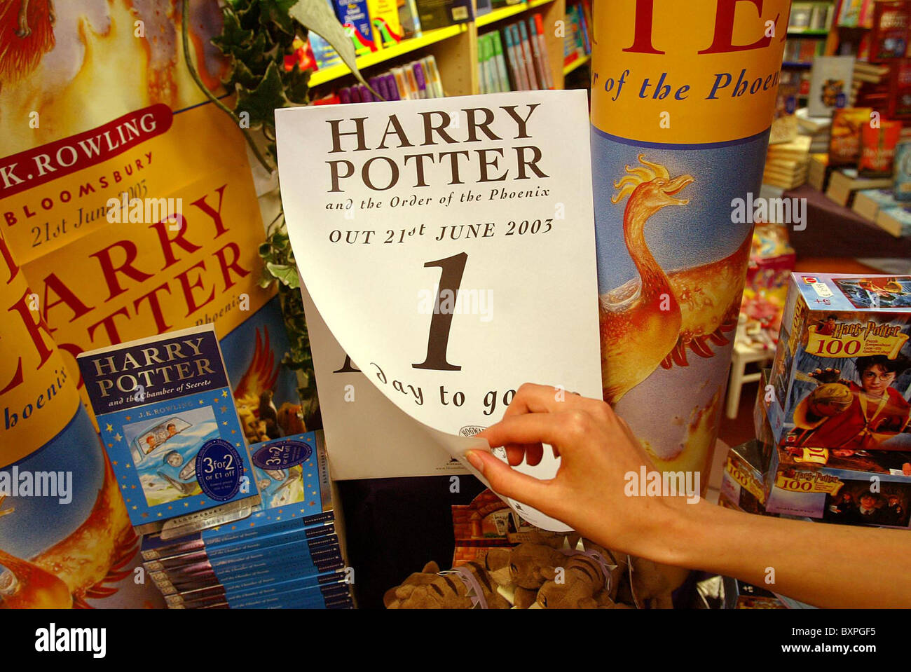 Harry Potter bookmarks. Picture by James Boardman. - Stock Image