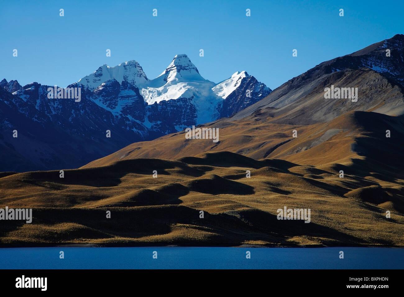 Condorri Peak And Lake - Stock Image