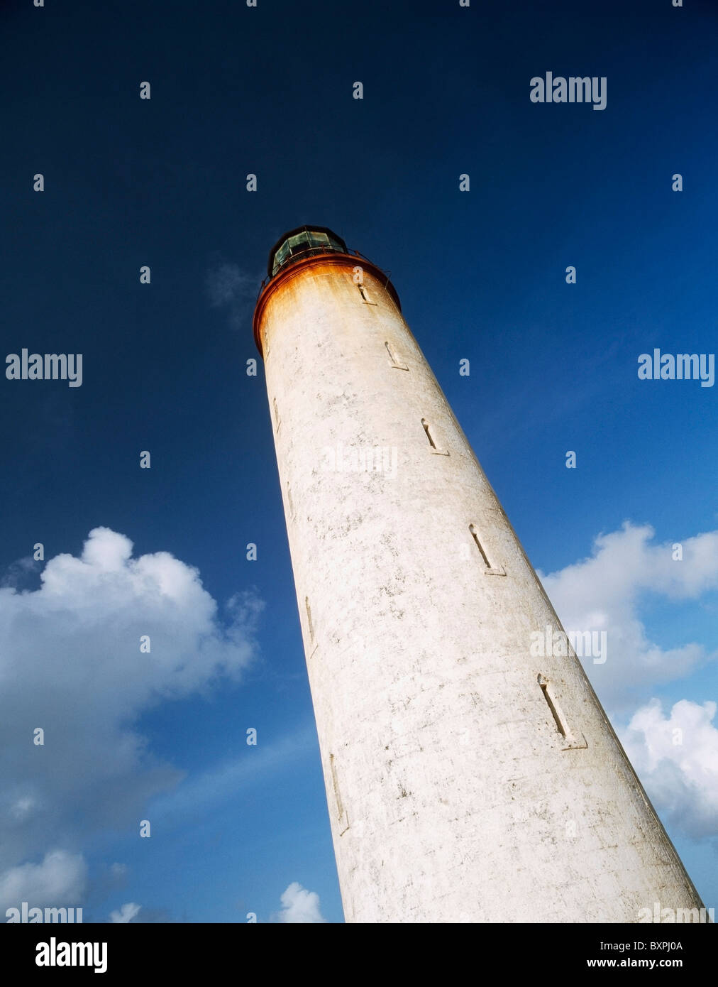 Old Lighthouse On Ragged Point - Stock Image