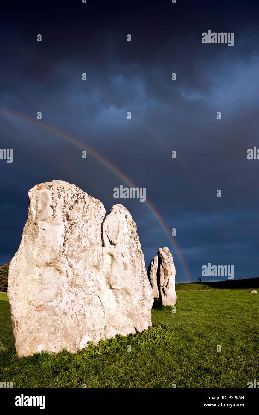 Avebury - Approaching storm Stock Photo