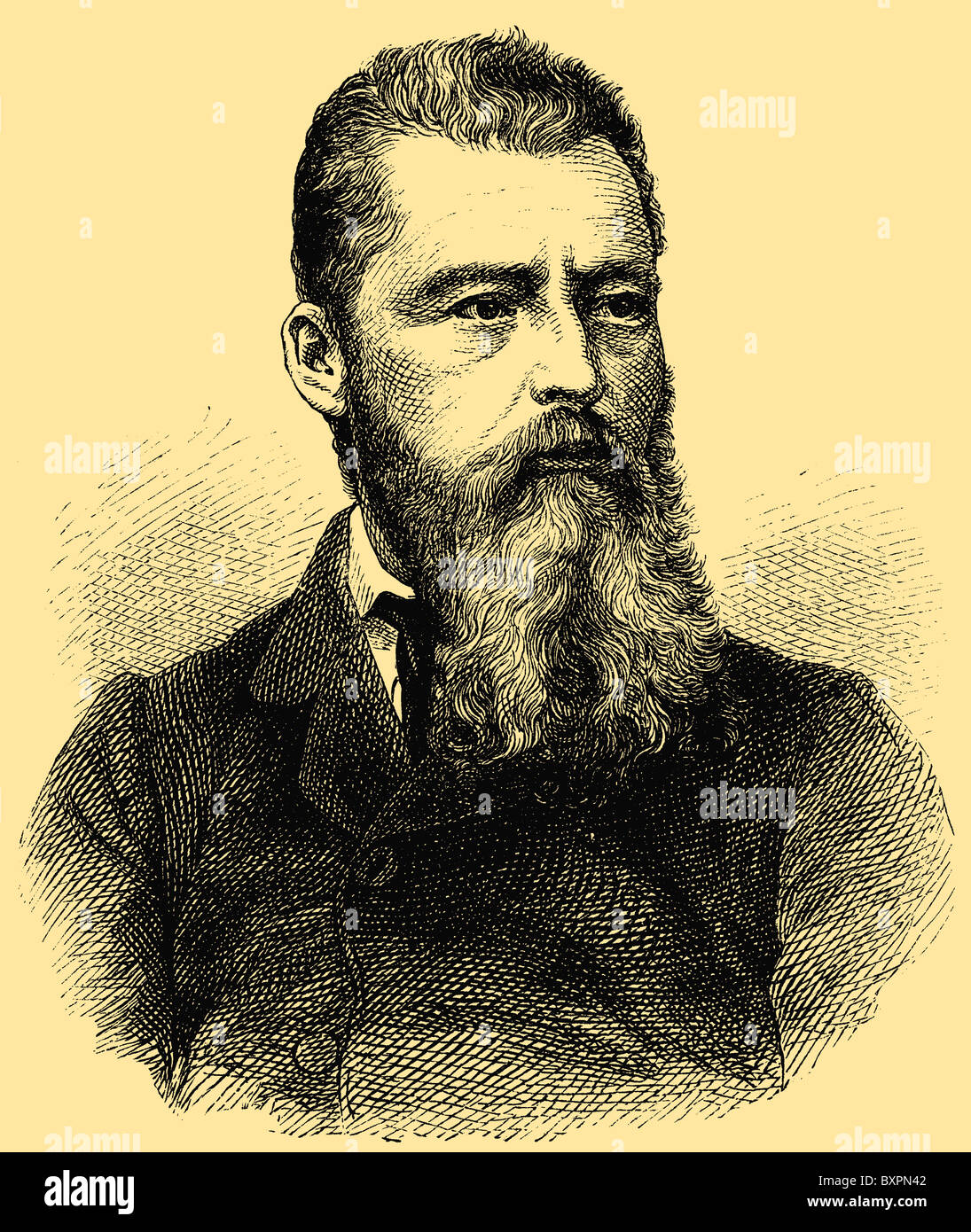 Ludwig Feuerbach (1804 - 1872), German philosopher and anthropologist - Stock Image