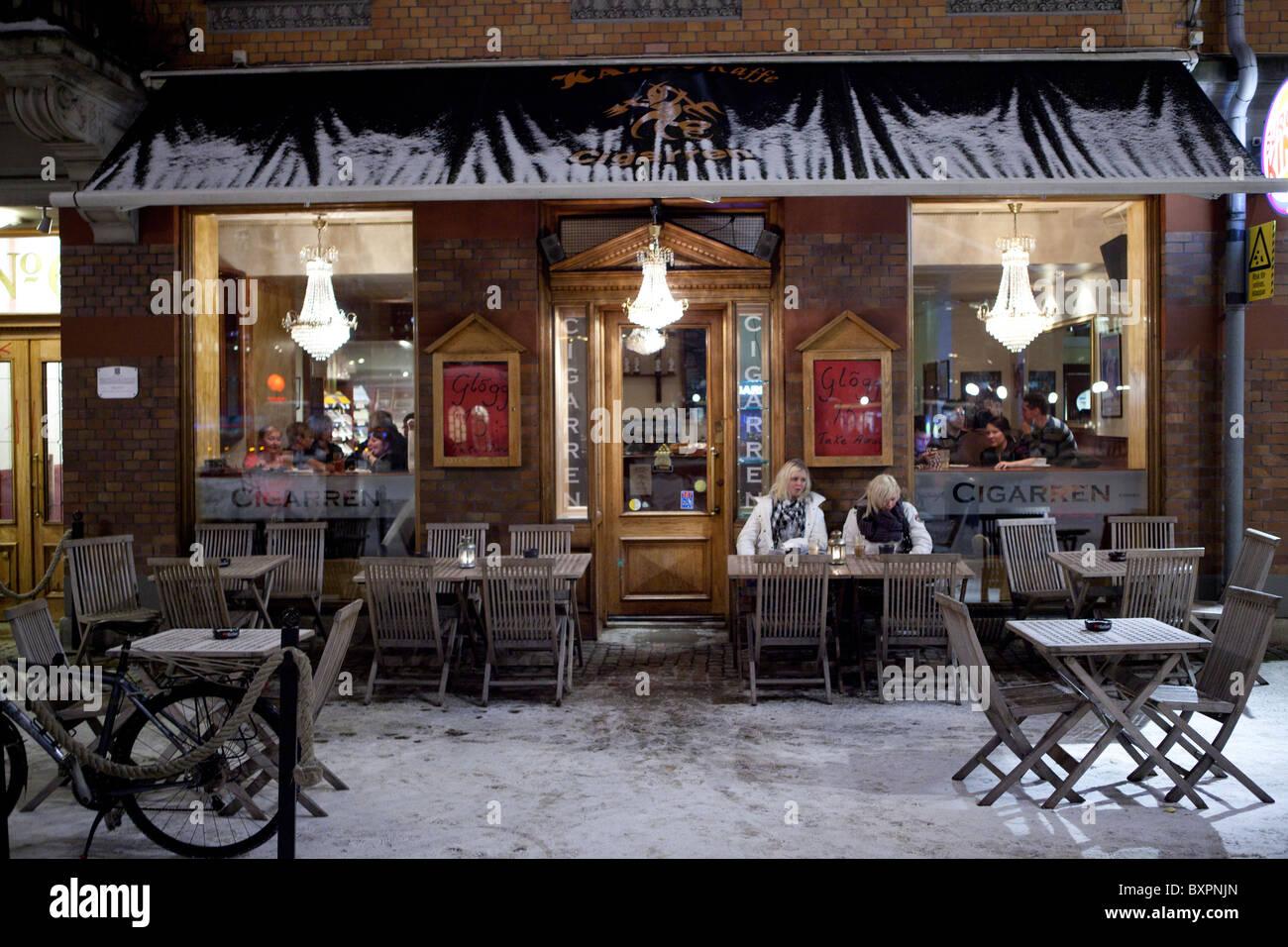 Coffeehouses of Gothenburg, Sweden - Stock Image
