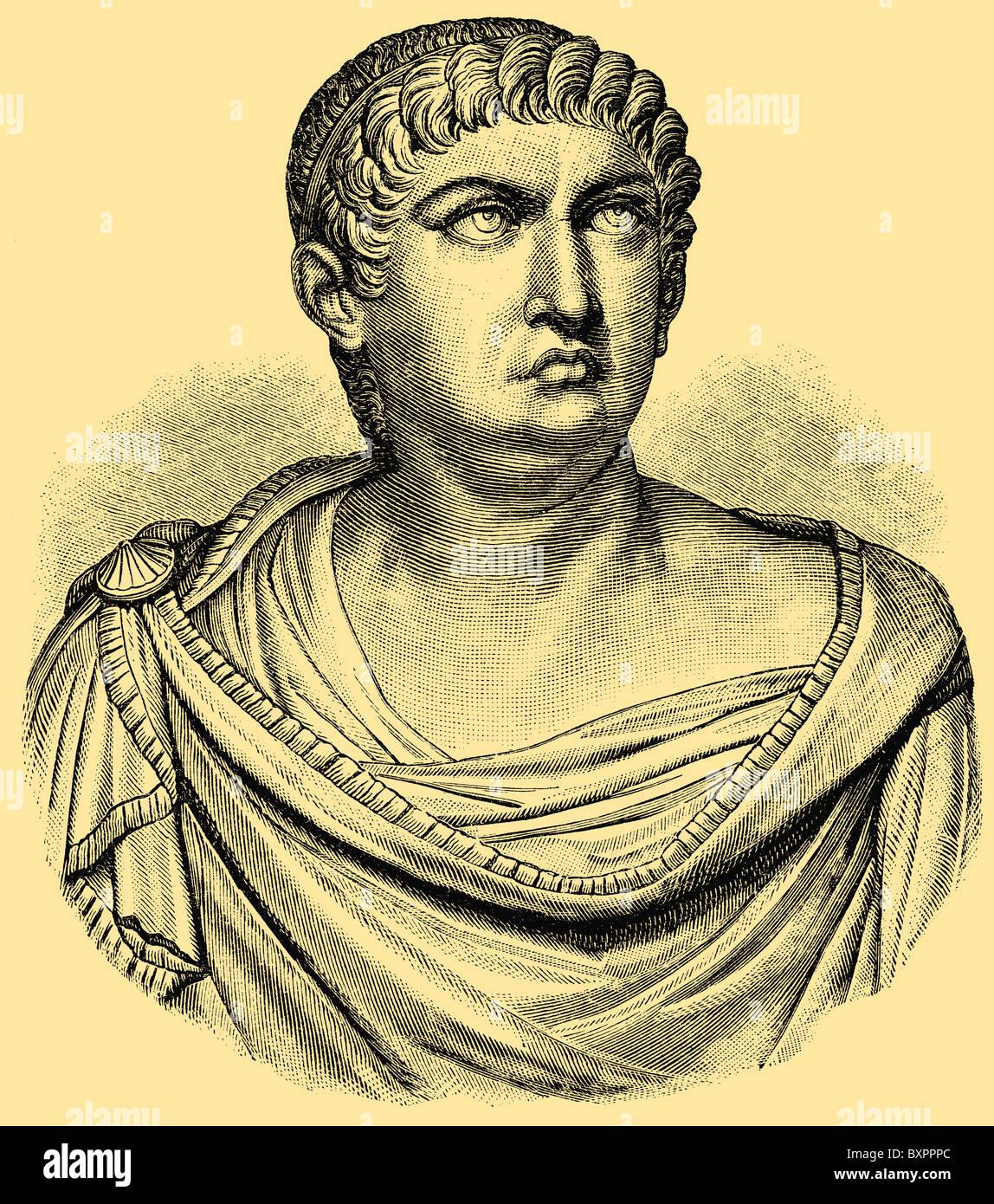 Nero (37 - 68), Roman emperor  - Stock Image