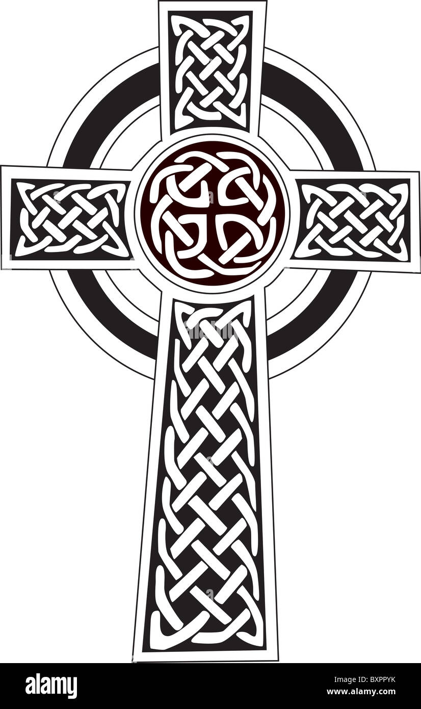 Complex Celtic Cross Symbol Great For Tattoo Can Be Fully Modified