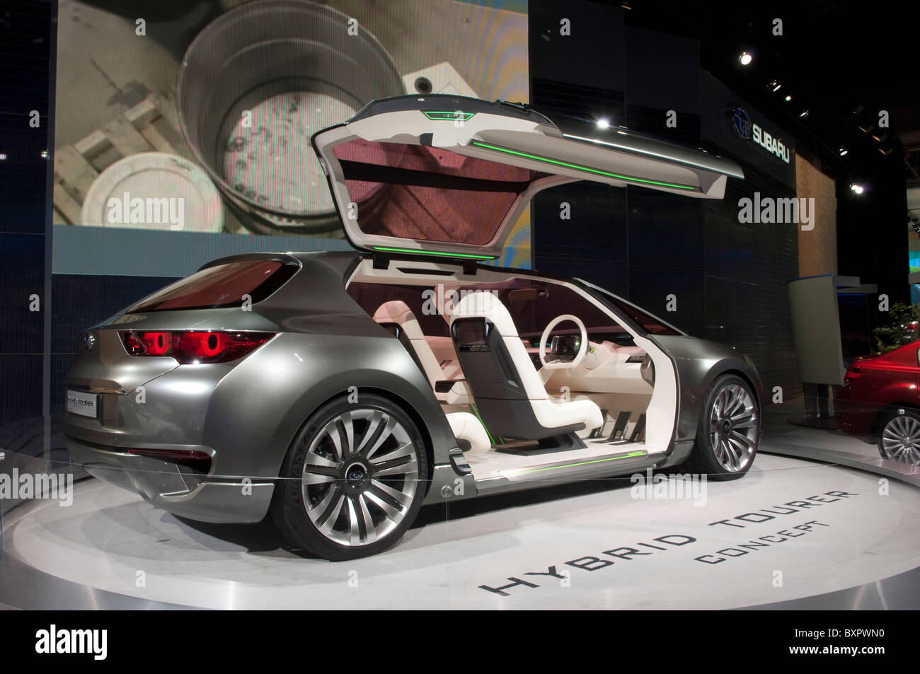 Subaru Hybrid Tourer concept car at the 2010 North American International Auto Show in Detroit - Stock Image