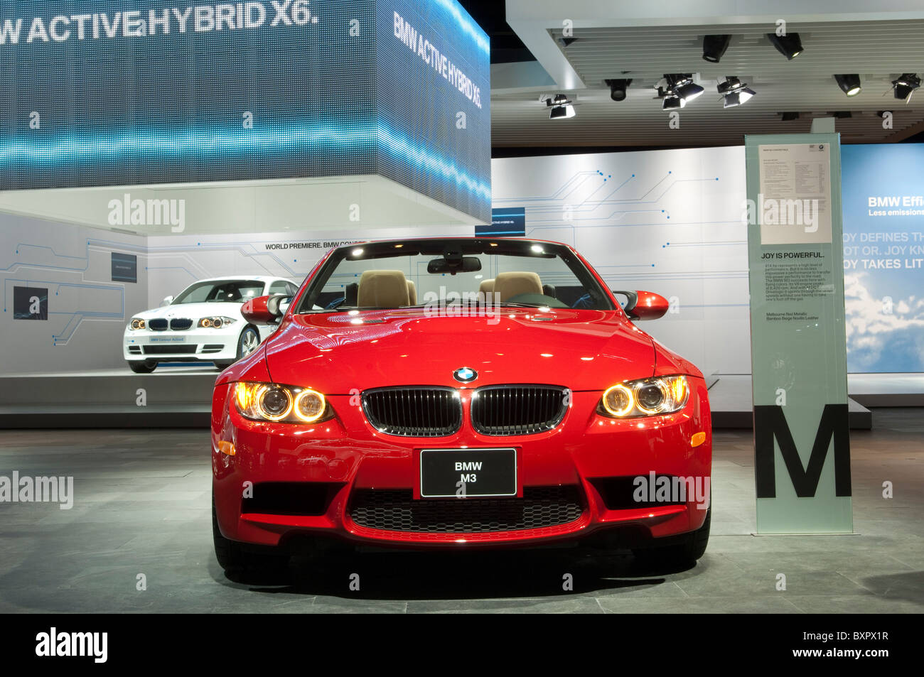 BMW M3 Convertible At The 2010 North American International Auto Show In  Detroit   Stock Image