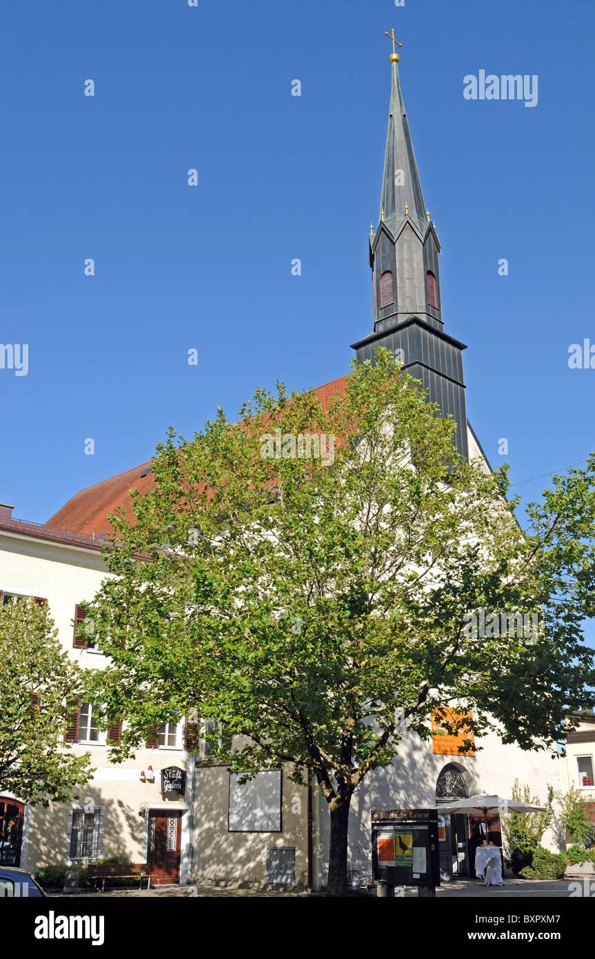 Klosterkirche Traunstein - Stock Image