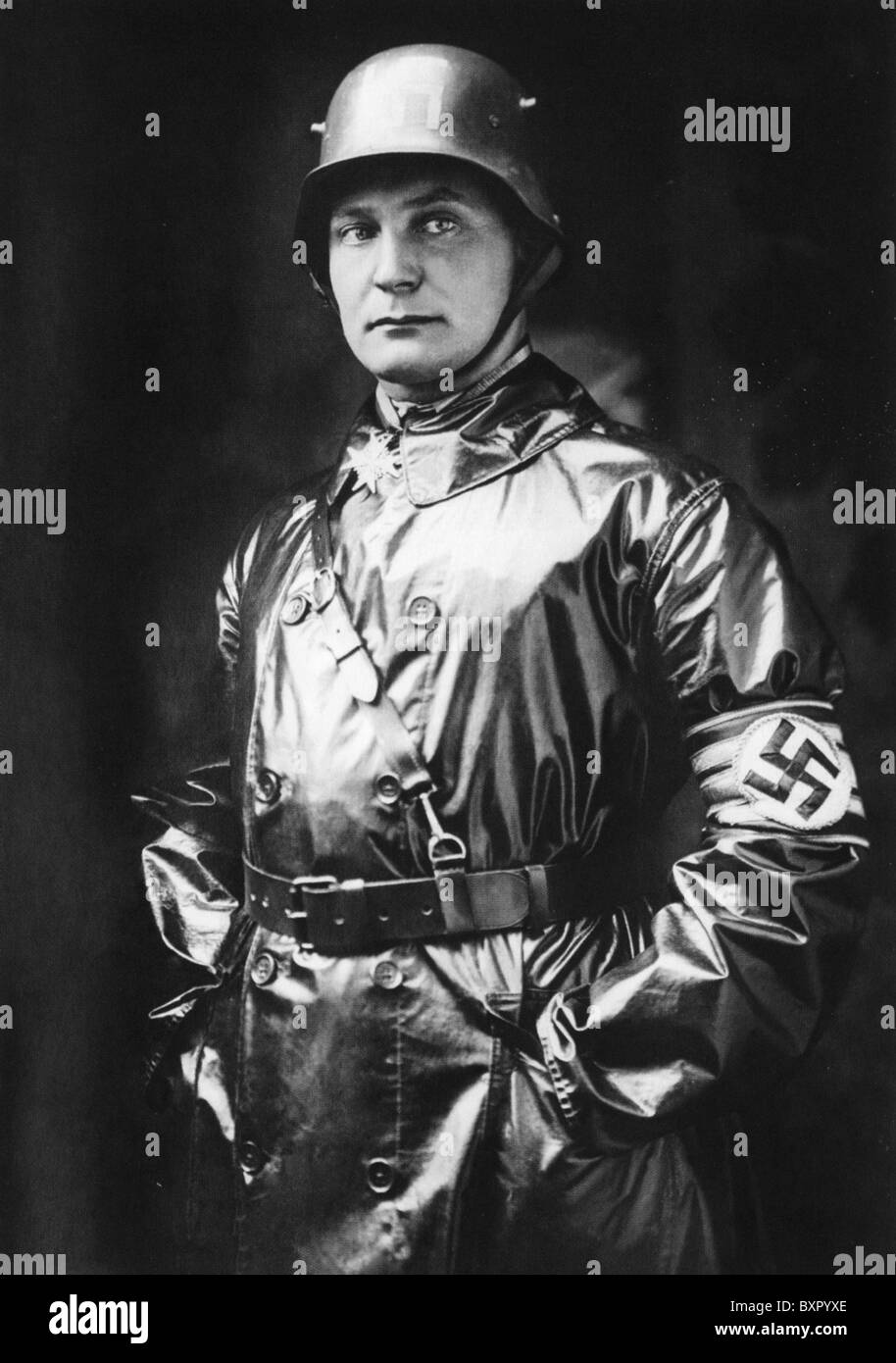 HERMAN GOERING (1893-1946) as the SA (Sturmabteilung) commander in 1923, wearing his Pour le Merite  medal Stock Photo