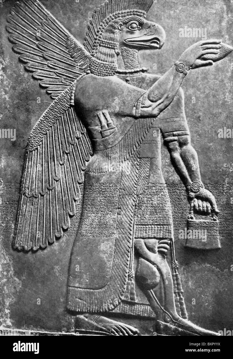 This Winged Eagle Headed Assyrian Creature Was Known As An
