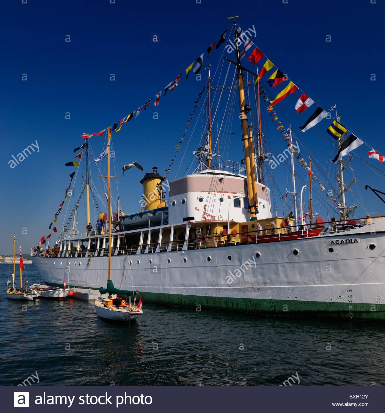 CSS Acadia scientific ship at Halifax Harbour Tall Ships Festival Nova Scotia Canada 2009 - Stock Image