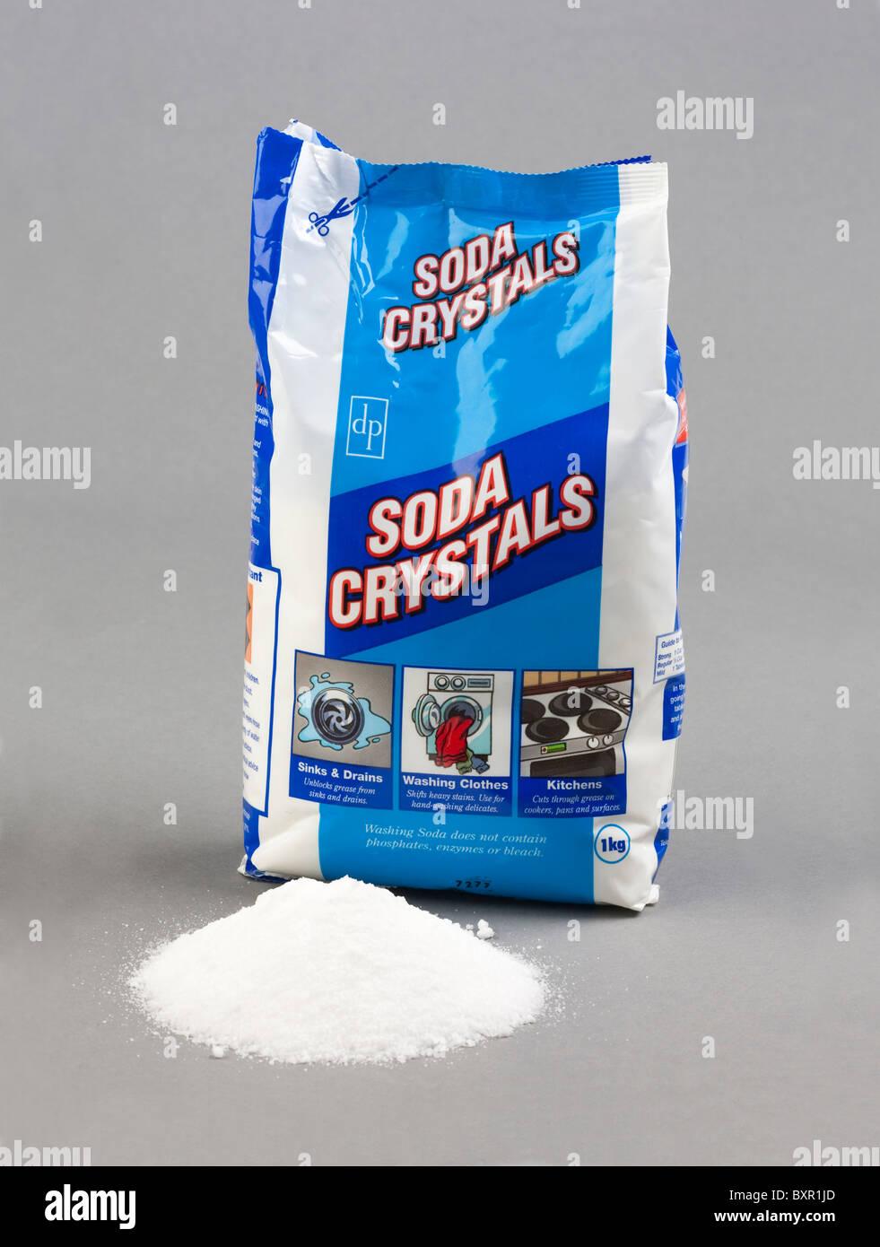 washing soda crystals of sodium carbonate Stock Photo