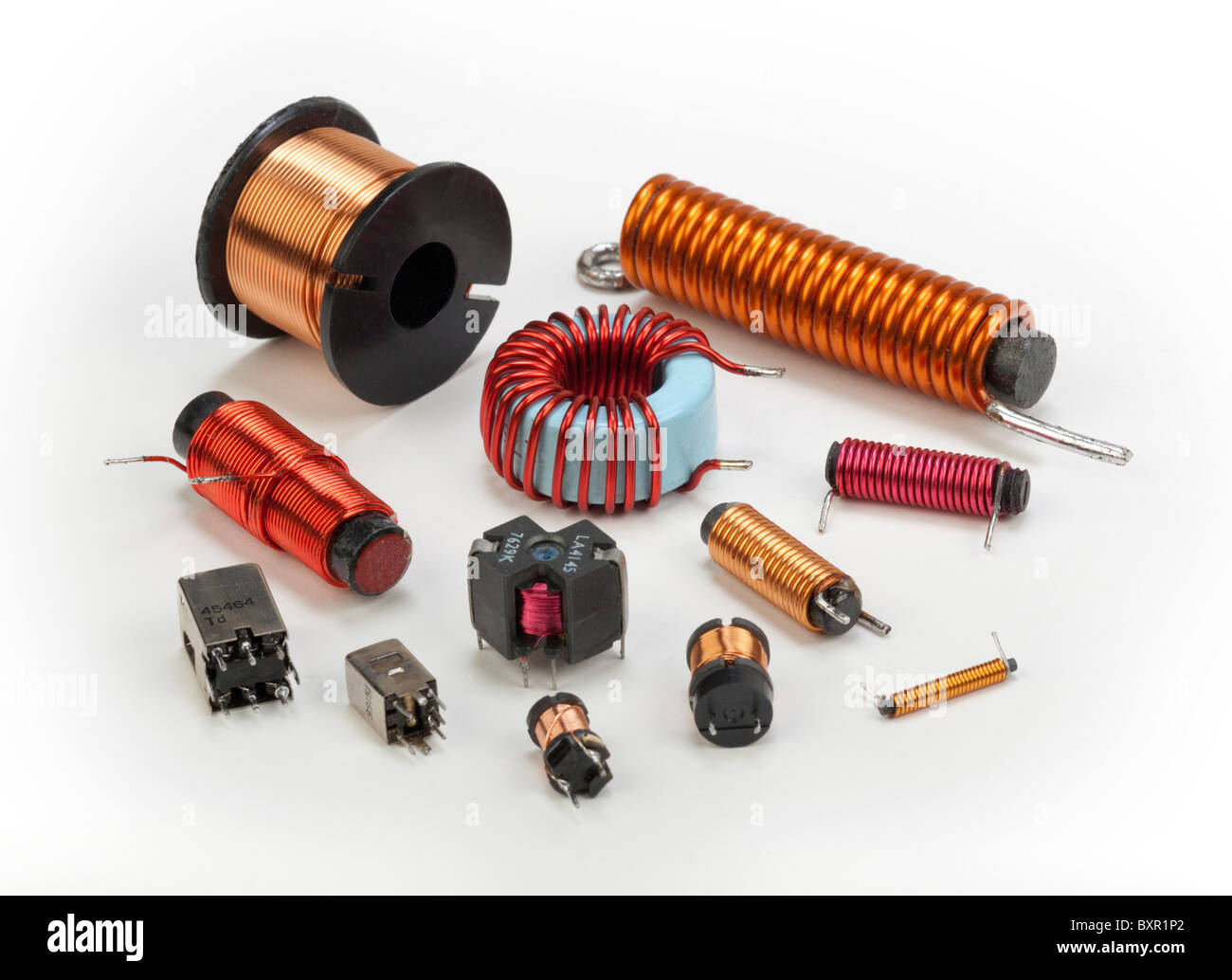 Inductance Stock Photos Images Alamy With The Test Circuit Below Until Exact Is Various Electrical Inductors And Coils Image