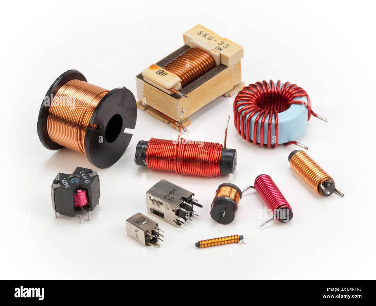 Inductor Stock Photos Images Alamy Circuit Speaker Using An Various Electrical Inductors And Coils Image