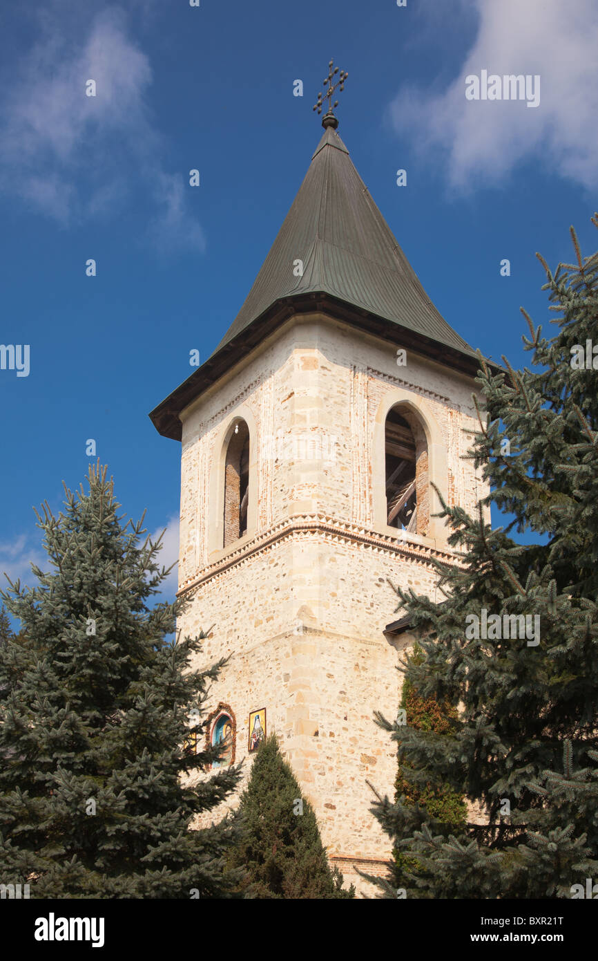 Bell tower at Secu Monastery in Romania. - Stock Image