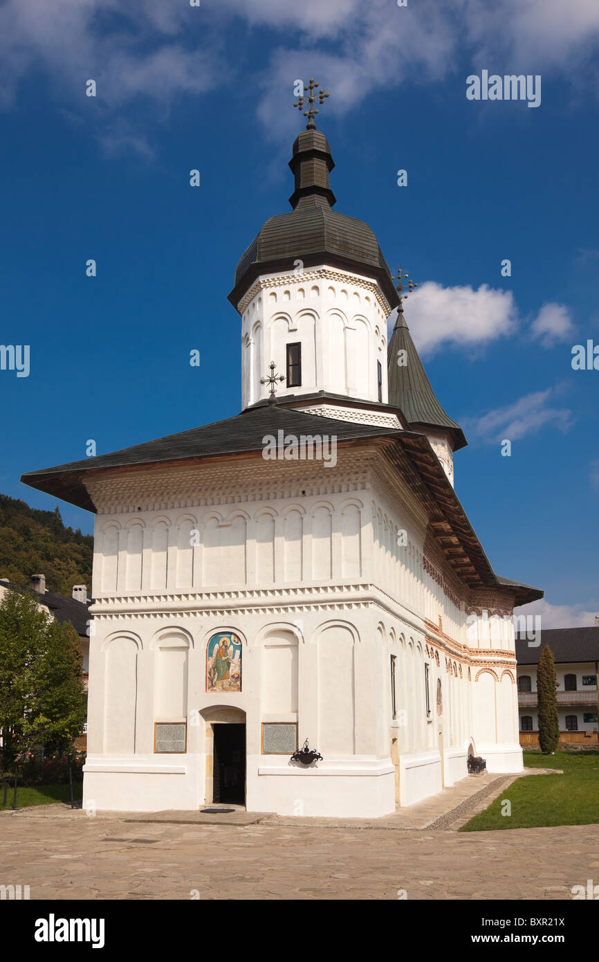 Exterior view of the church at Secu Monastery, Romania. - Stock Image