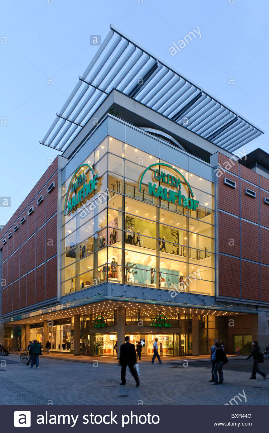 Galleria Kaufhof department store in the Grimmaische Strasse street, shopping street, Leipzig, Saxony, Germany, - Stock Image