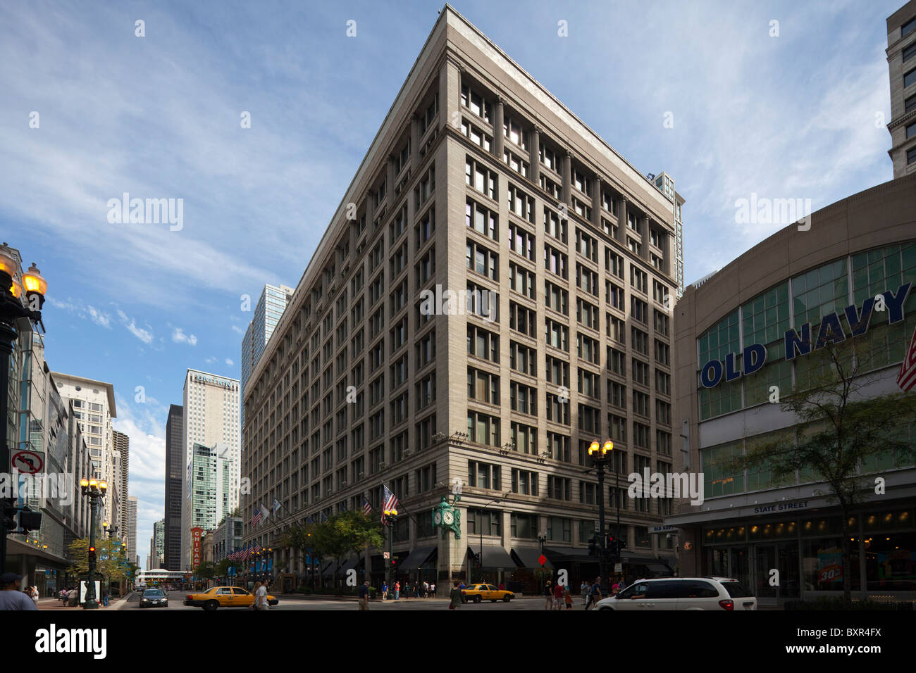 Marshall Field's, now Macy's, department store, State Street, Chicago, Illinois, USA - Stock Image