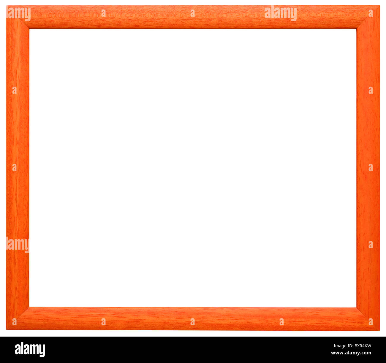 Simple orange wooden frame isolated with two clipping paths Stock ...