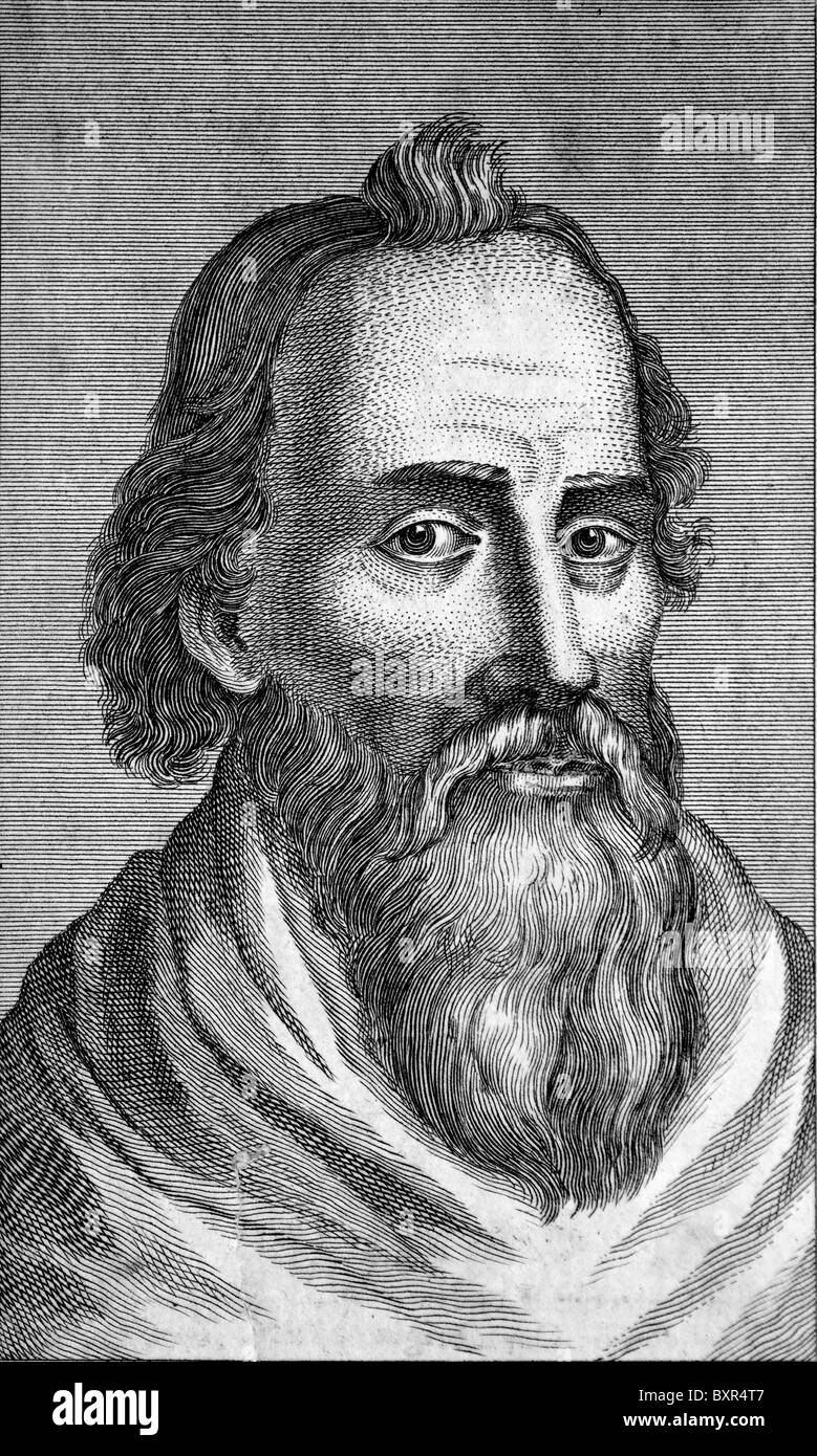 Portrait of Juvenal, Decimus Iunius Iuvenalis (c1/2nd AD), Roman Satirical Poet (c18th engraving) - Stock Image