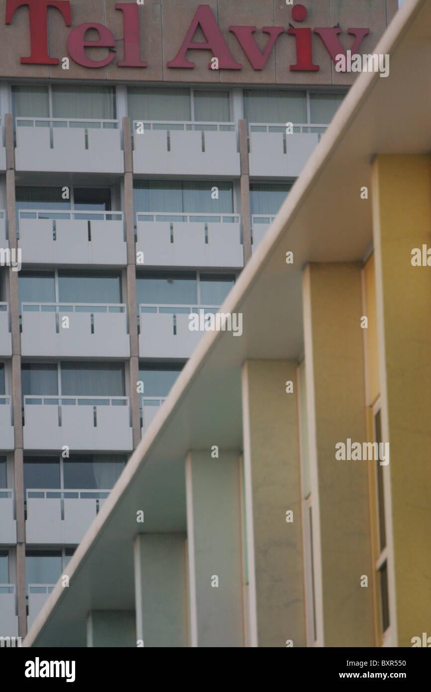 Tel Aviv Hotels - Stock Image