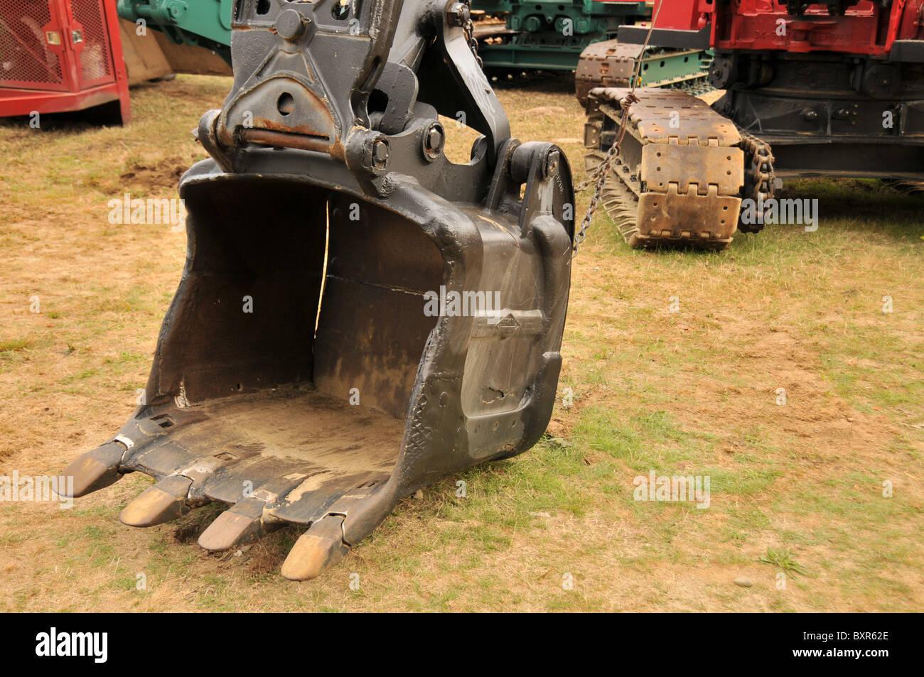 1956 Lima Power Shovel 3/4 Cubic Yard Bucket - Stock Image