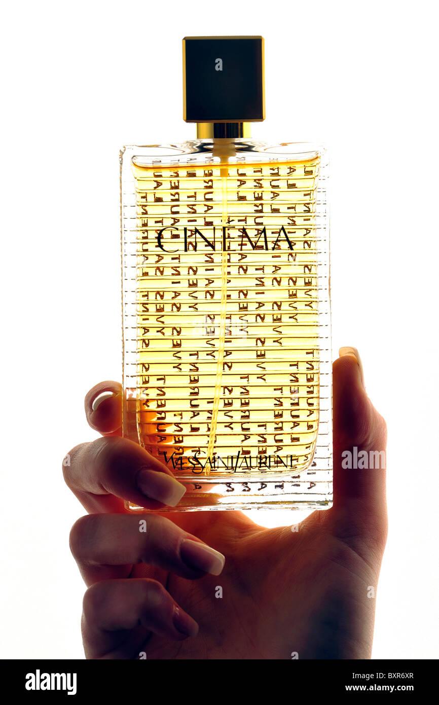 Yves Saint Laurent Lifestyle Perfum Odour Cinema Stock Photo