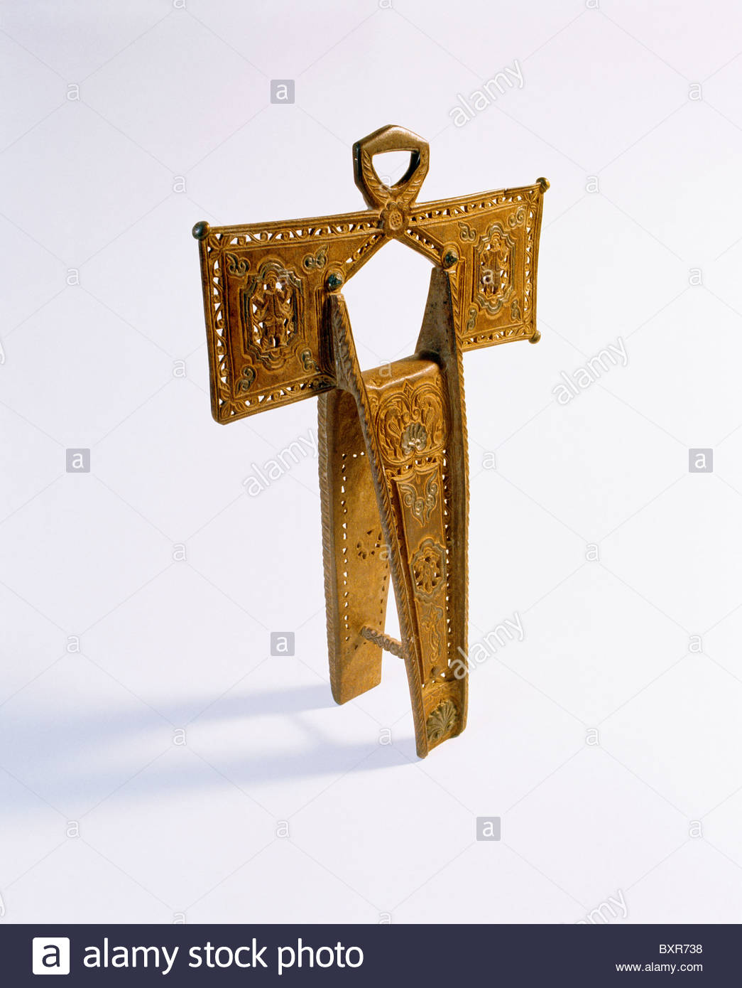 Spanish cruciform stirrup (private collection). Spanish Colonial period. San Antonio Missions National Historical - Stock Image