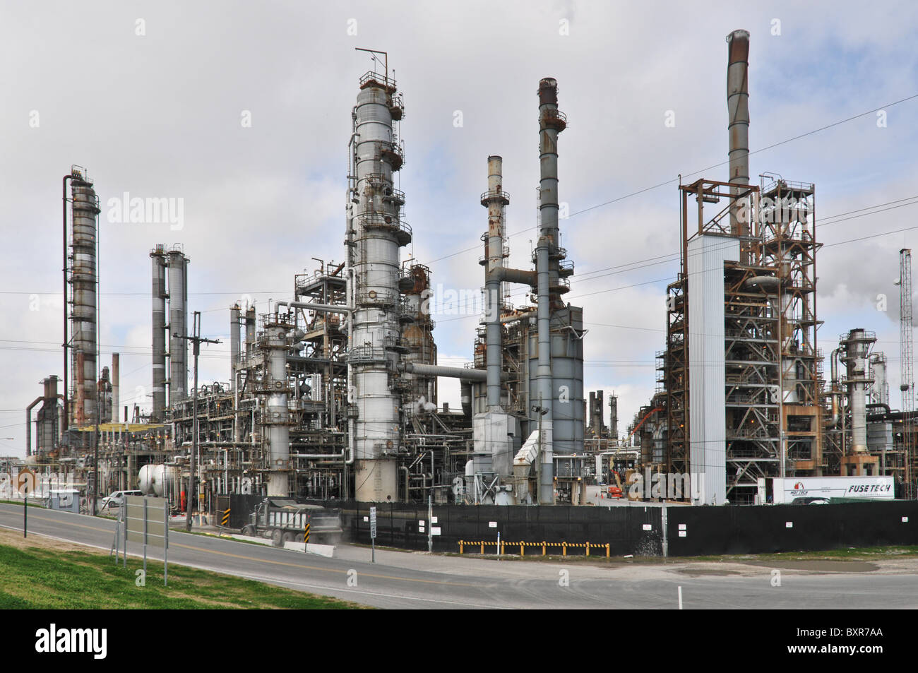Oil refinery on Mississippi River, New Orleans, Louisiana