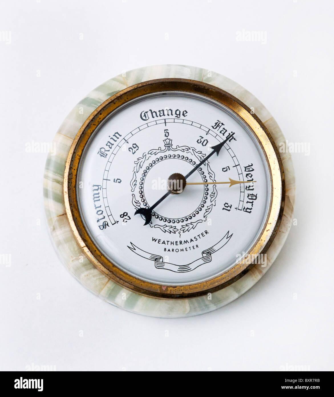 classic aneroid barometer - Stock Image