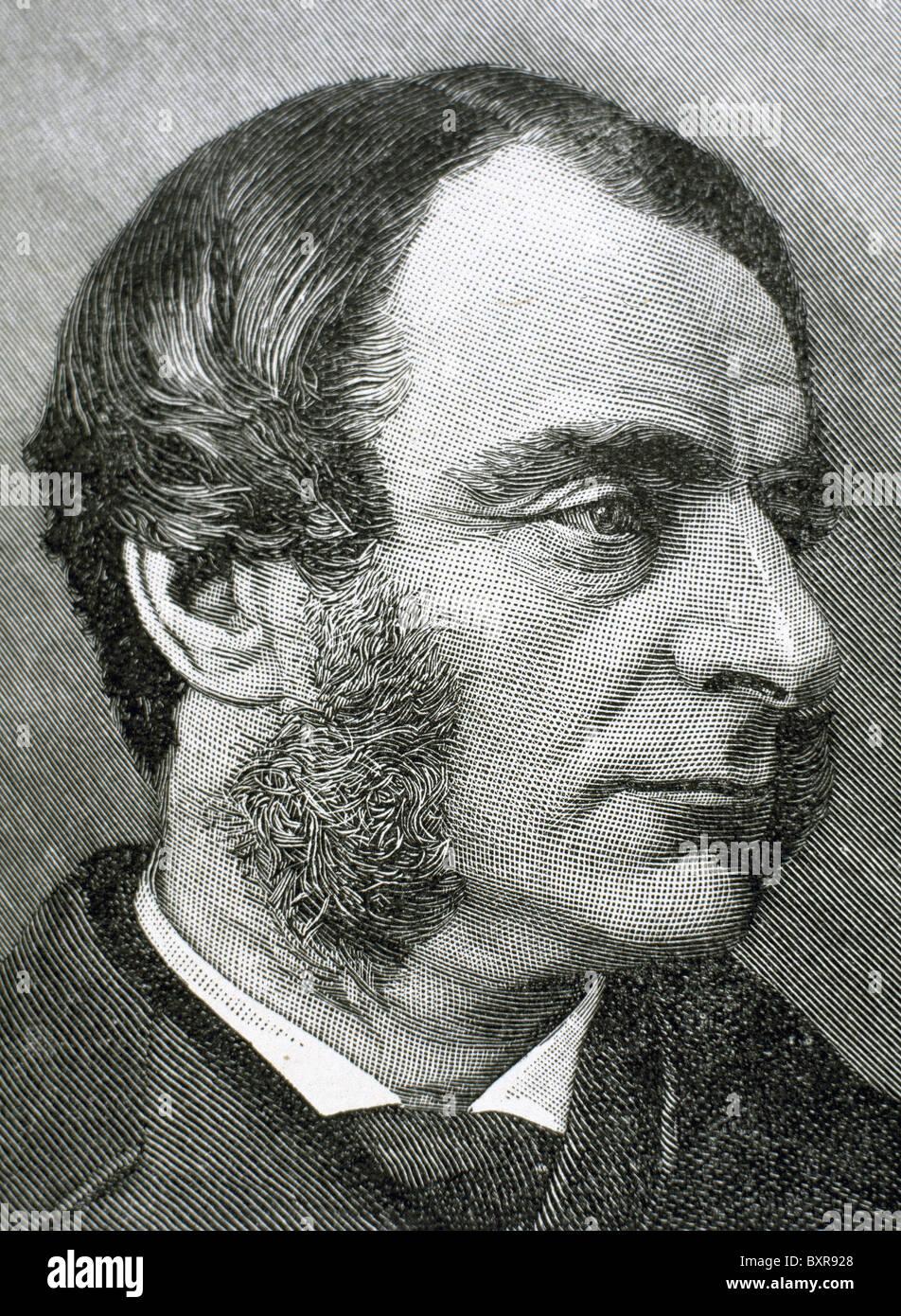 Kingsley, Charles (1819-1875). British writer and historian. Engraving. - Stock Image