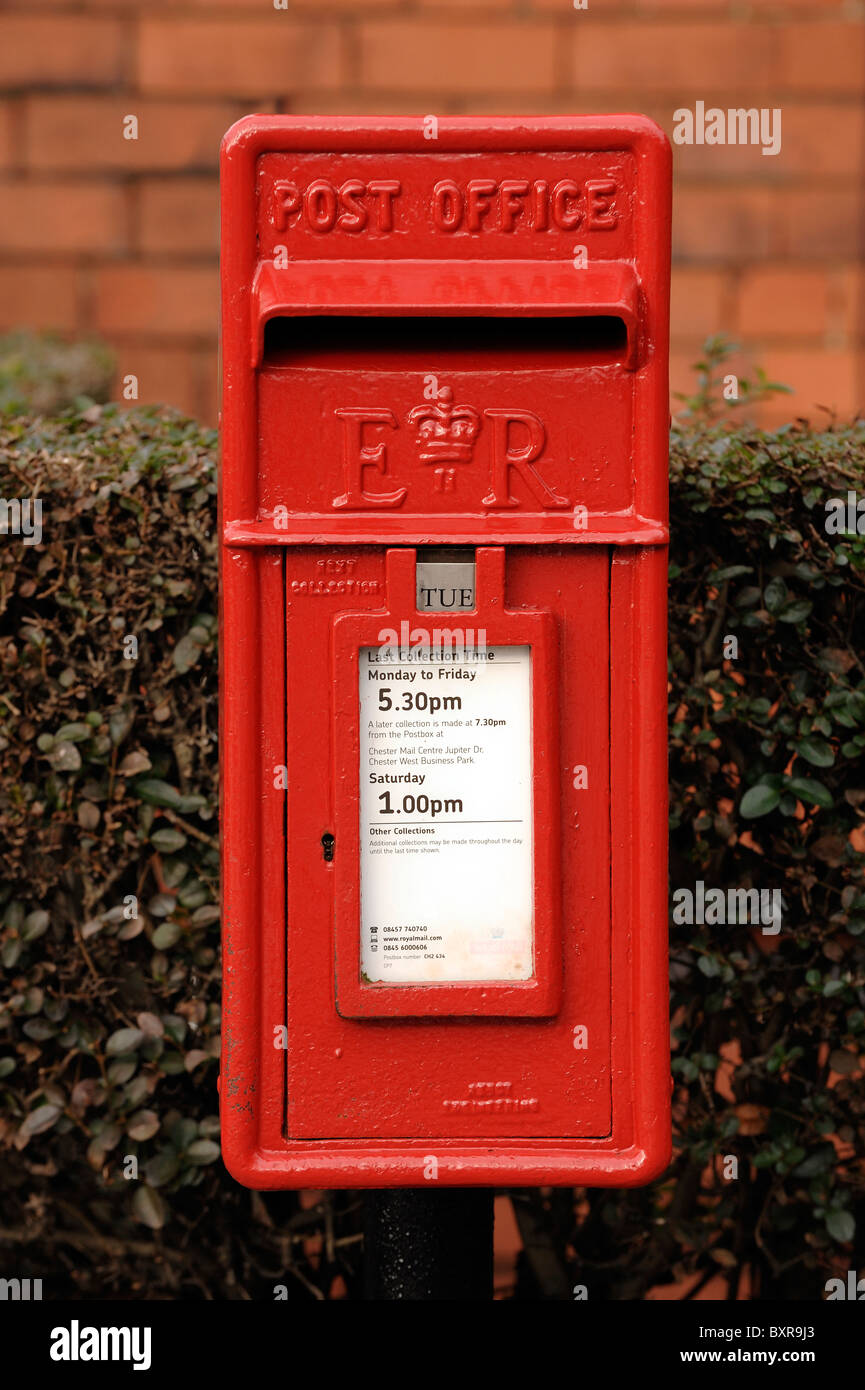 Red Post Box - Stock Image