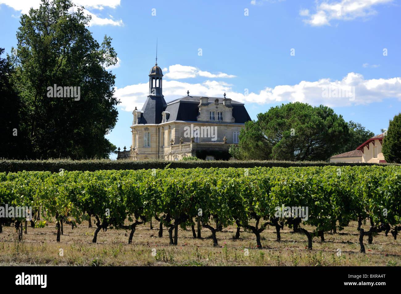 france, bordeaux, medoc vineyards, chateau fonreaud - Stock Image