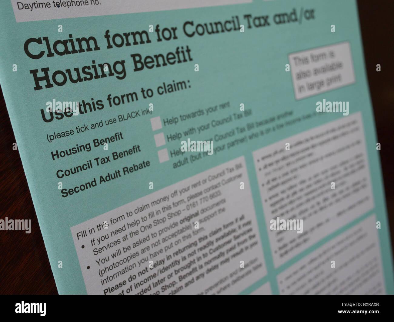 Housing Benefit Form   Housing Benefit Stock Photos Housing Benefit Stock Images Alamy