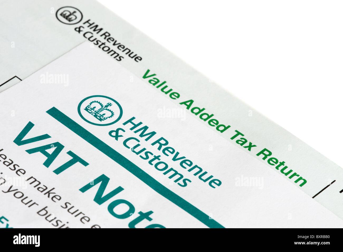 Vat tax return forms. - Stock Image