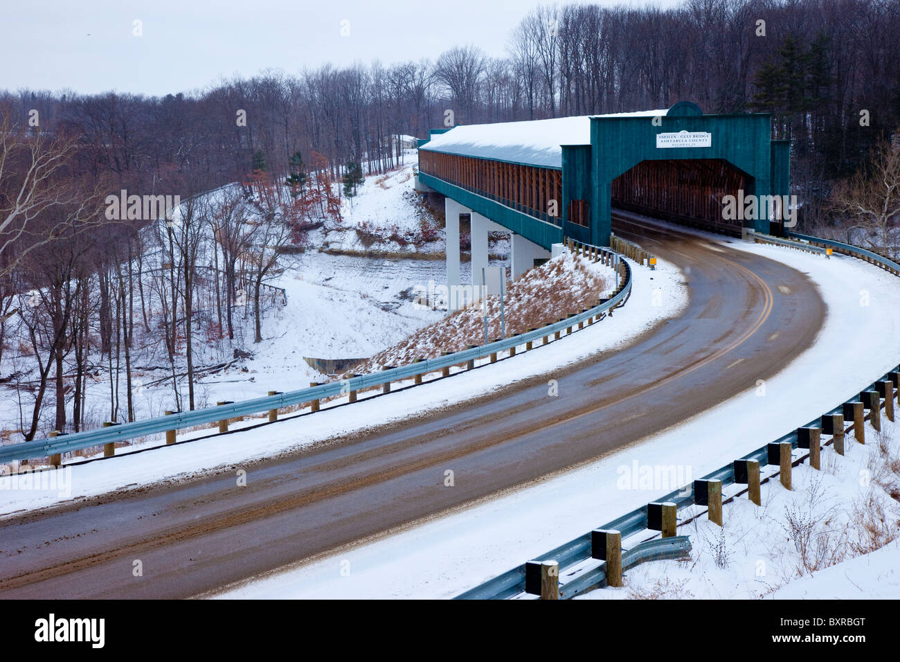 Smolen-Gulf Bridge in Ashtabula Ohio, USA - Stock Image