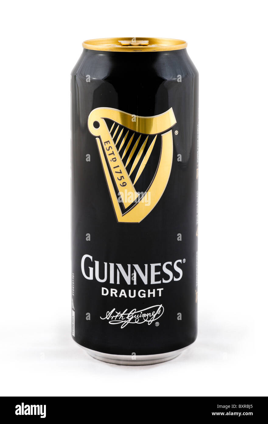 Can of draught Guinness, UK - Stock Image