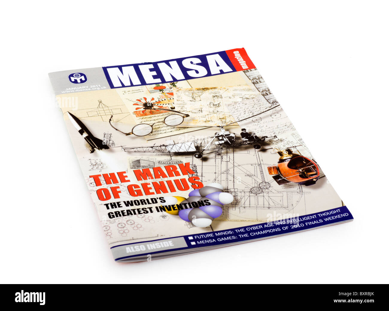 The monthly magazine of Mensa (the high IQ society), UK - Stock Image