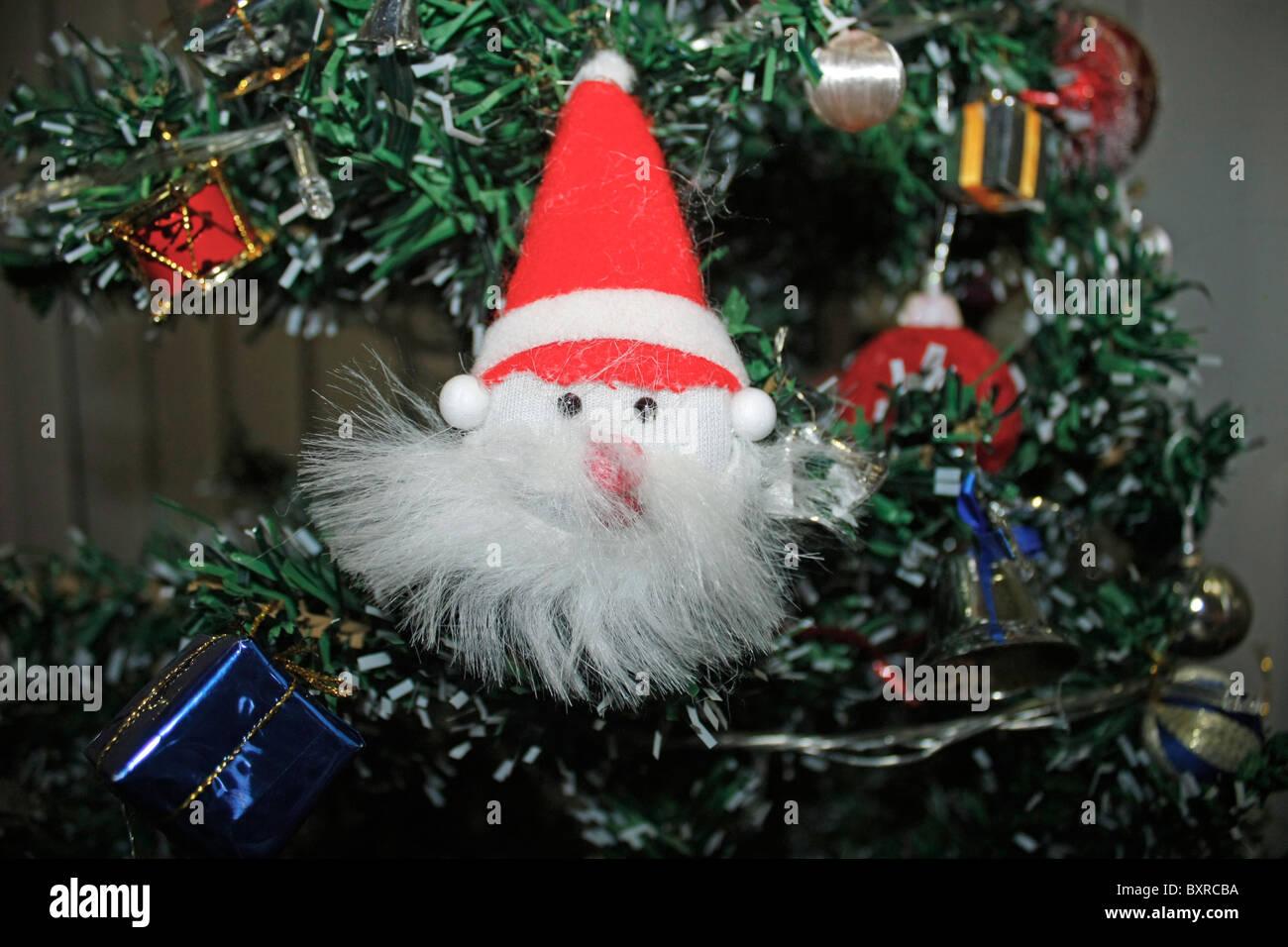 santa claus decoration item - Stock Image