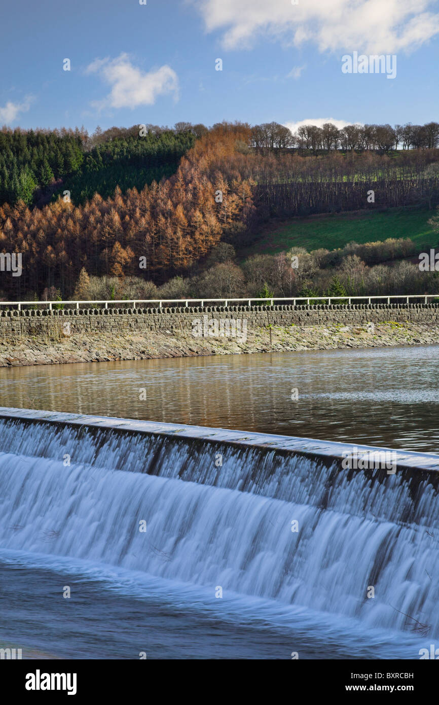 Weir, Talybont Reservoir, Wales, UK - Stock Image