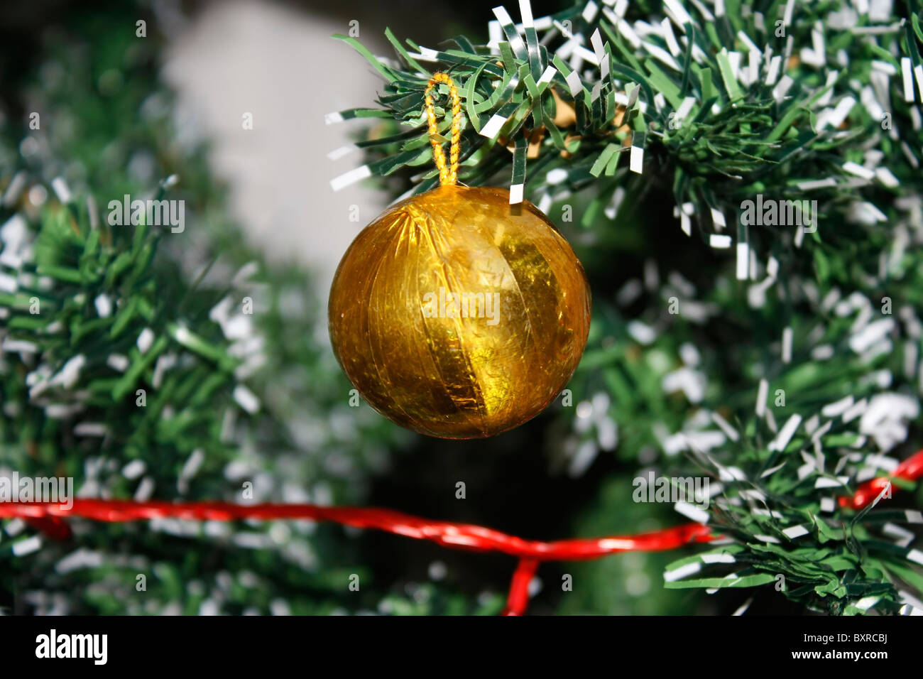 christmas tree decoration item ornament - Stock Image