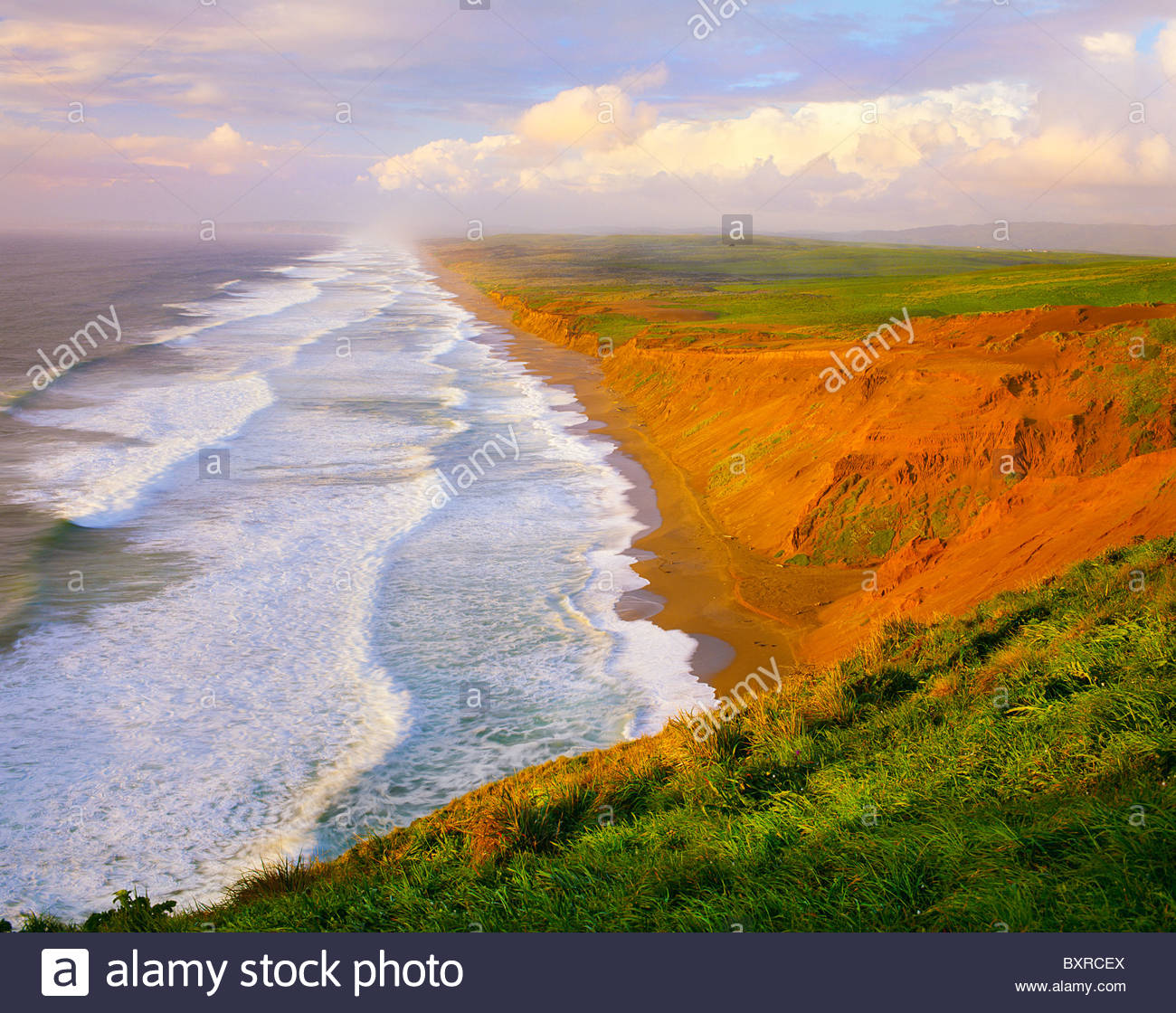 0608-1011B  Copyright: George H. H. Huey  North and South Beaches. Point Reyes National Seashore, California. - Stock Image