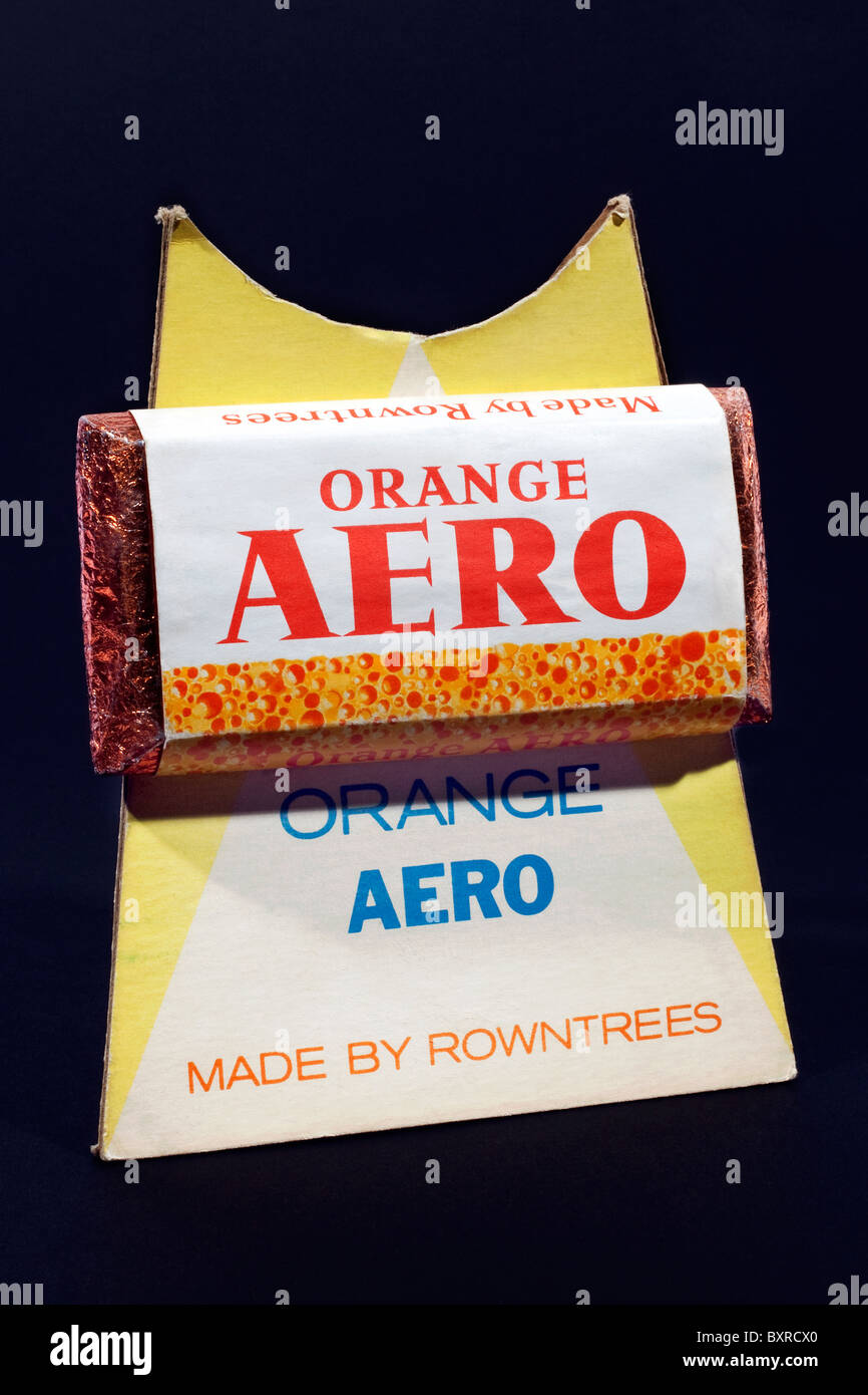 Promotional display for Rowntree's Orange Aero chocolate bar Stock Photo