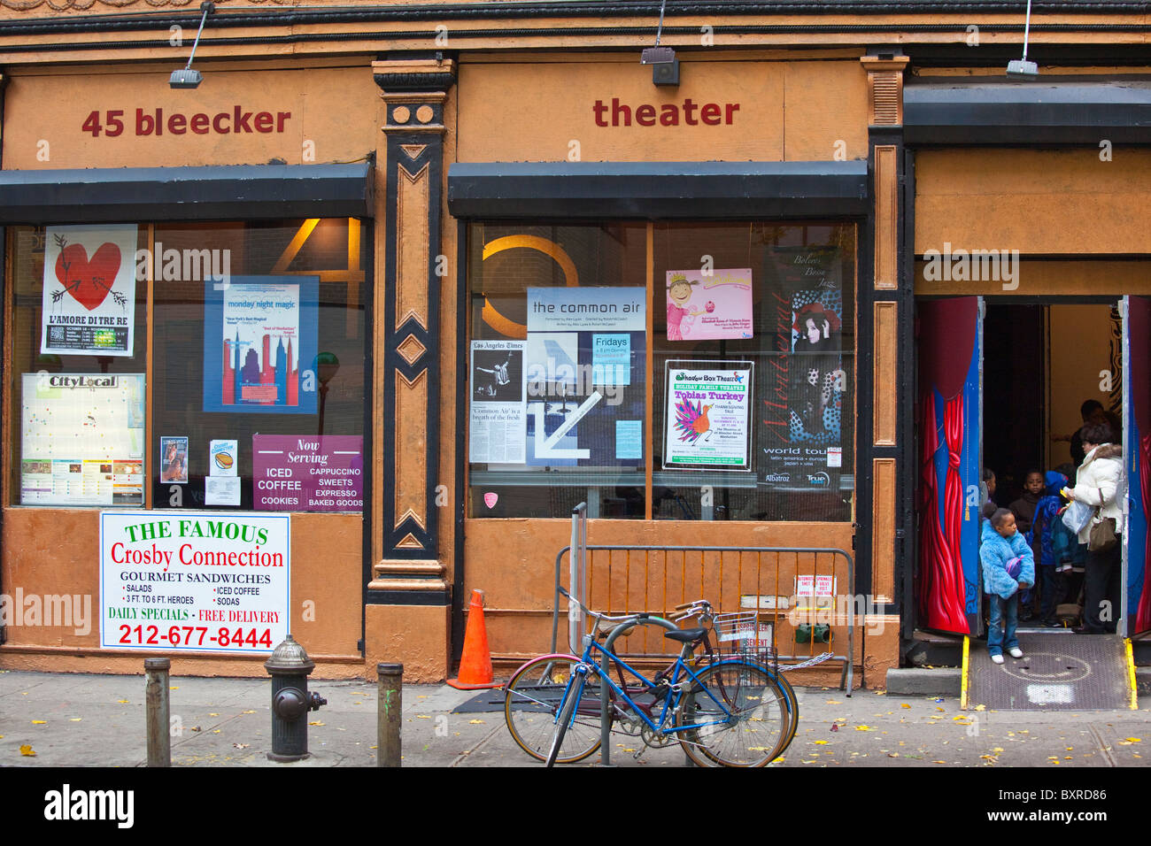 Bleecker Street Theater Company, 45 Bleecker, Manhattan, New York City - Stock Image